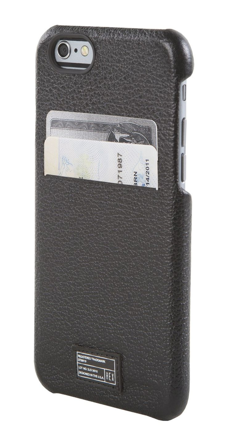 Solo Wallet for iPhone 6 Black Leather - iPhone 6 - Cases - Shop | HEX