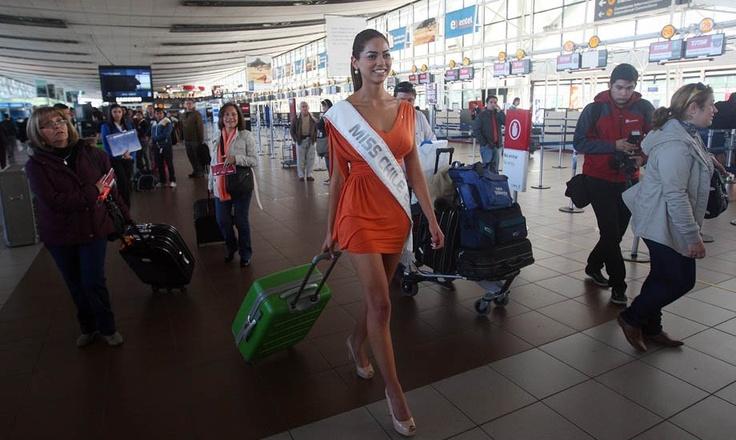 Camila partió a Mongolia a disputar el Miss Mundo: Aquí fotos