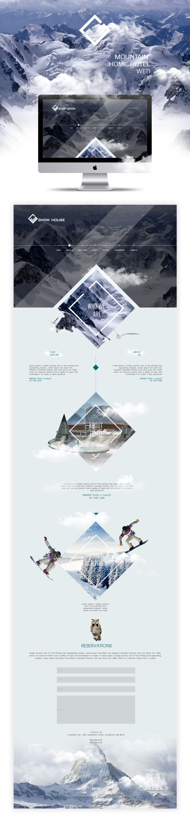 Web/Snow House Design On Behance Part 83