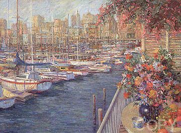 """Mediterranean Sunrise"" by Henri Plisson"