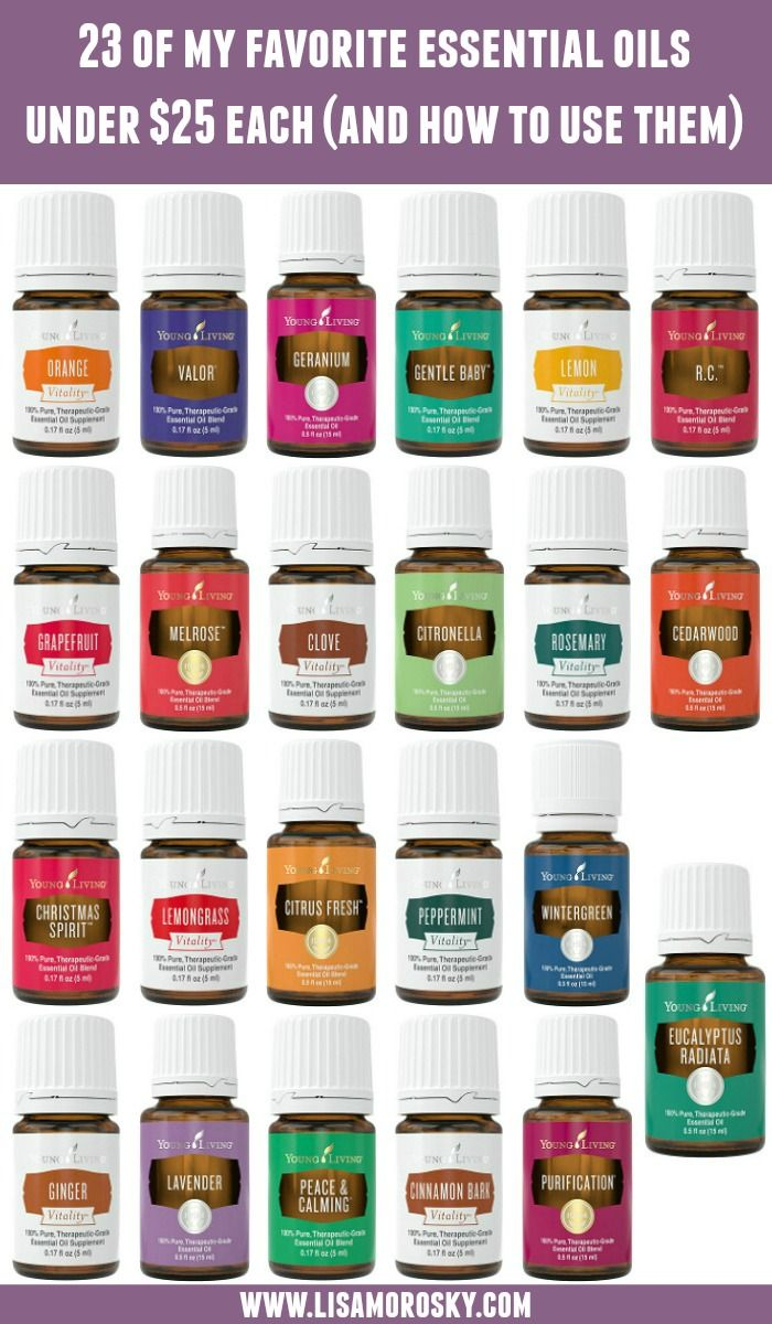 Not all Young Living Essential Oils are expensive! Here's a list of my favorite essential oils under $25 each. Add these essential oils to your next order!