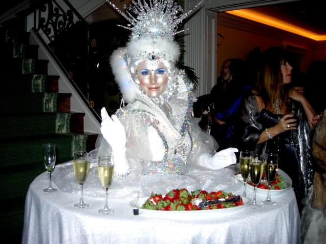 ice princess costume with serving table skirt