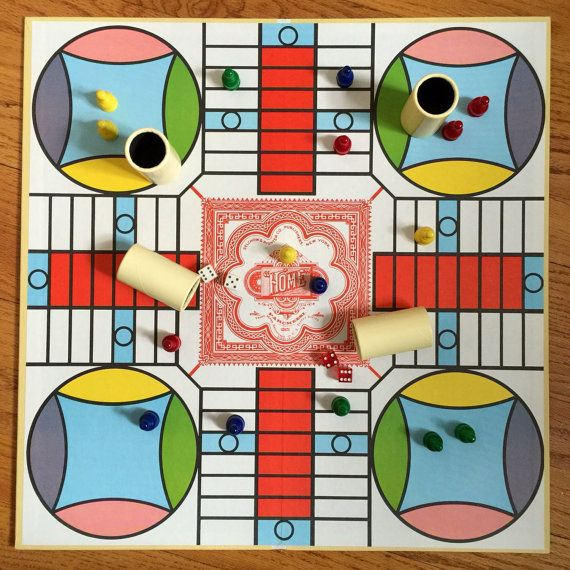 Parcheesi Board Game Gold Seal Edition Selchow by AttysVintage