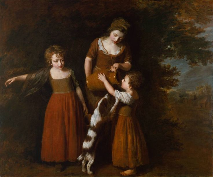 Inspiration for Demelza's costumes --- The Peasant's Family by John Opie, c.1783–5. | Poldark, as seen on Masterpiece PBS