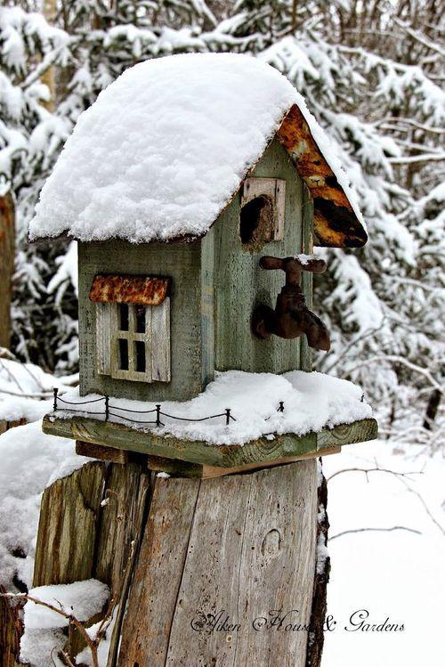 85 Best Christmas Birdhouse Images On Pinterest