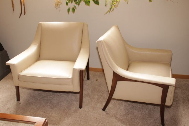 Groovy Pair Retro Mid Century Modern Vinyl Side Chairs Sold At Gmtry Best Dining Table And Chair Ideas Images Gmtryco