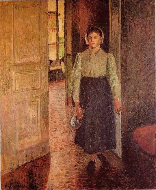 A Young Maid by Camille Pissarro