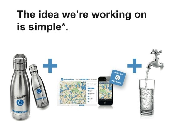 Lifebottle for tapwater.org by Neil Barron from Gusto