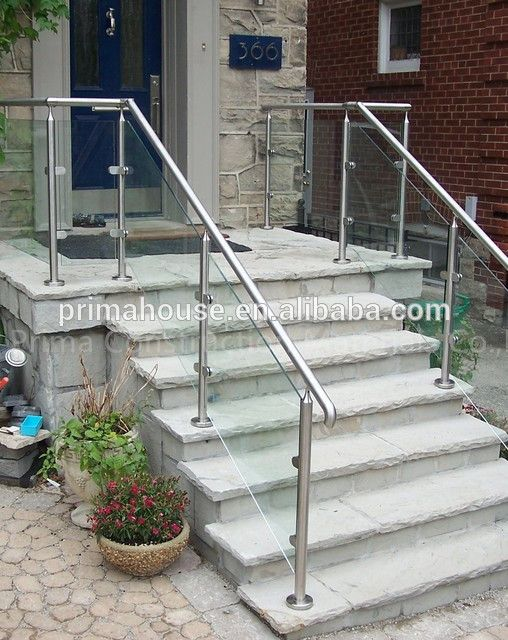 Source Stainless Steel Handrails With Frameless Gl Railing For Outdoor Step Prices On M Alibaba Staircase In 2018 Pinterest Stair