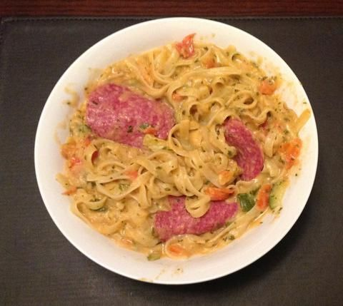 Creamy Tomato & Salami Fettucine BA -  Supercook