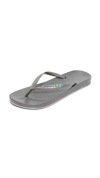 Grey/Silver Ipanema Brillian Brazilian Flip Flops