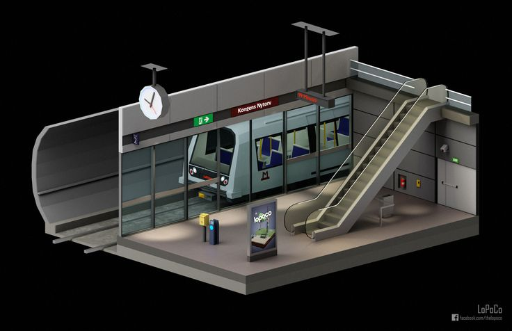 Thought I'd do a rough model of a metro. That got a little bit out of hand, so I made a rough model of a station to put it in. Well, that got a little out of control too - and now we're in this situation. Oops.