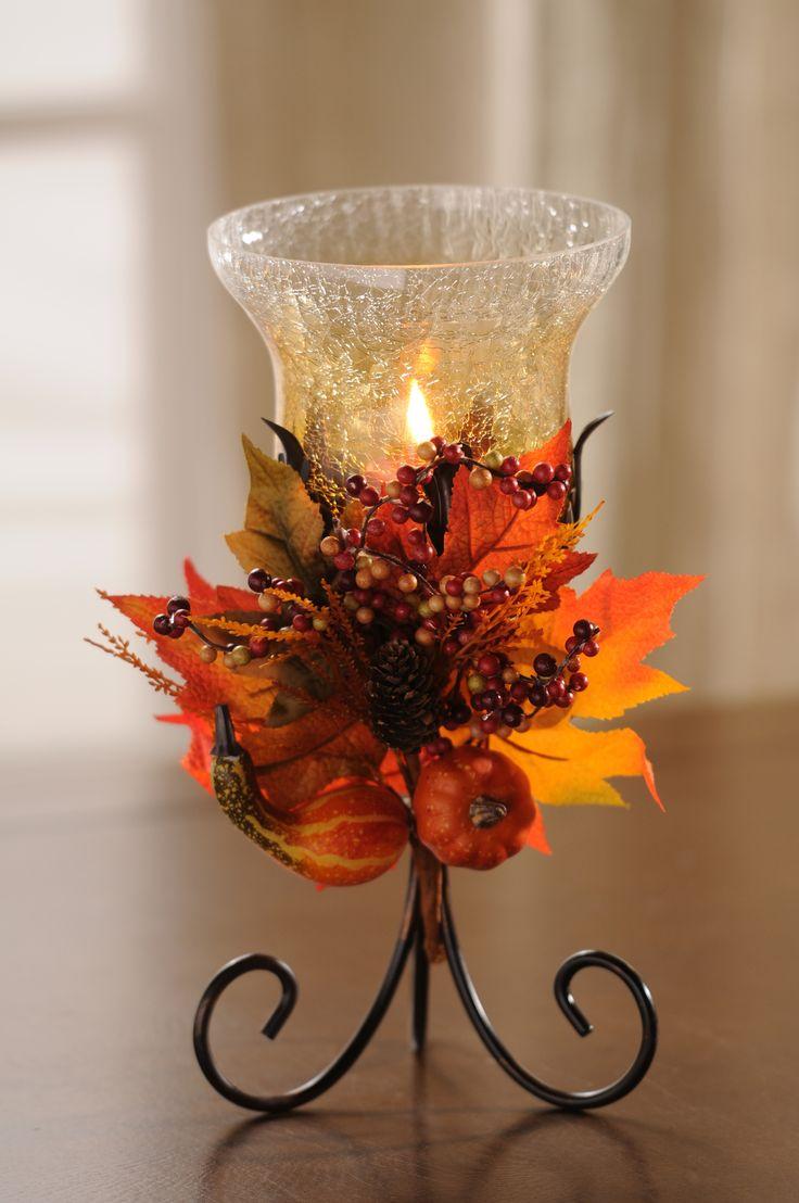 25 best autumn decorations ideas on pinterest for Fall candle centerpiece ideas