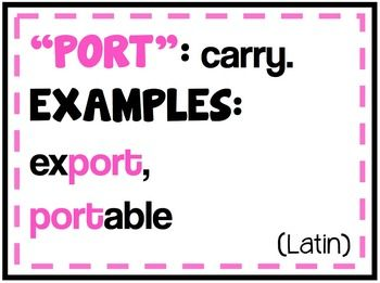 Prefixes, Suffixes, and Greek & Latin Root Posters