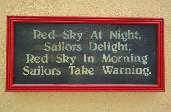 Is Red Sky At Night Sailors Delightred Sky In Morning - 570×374
