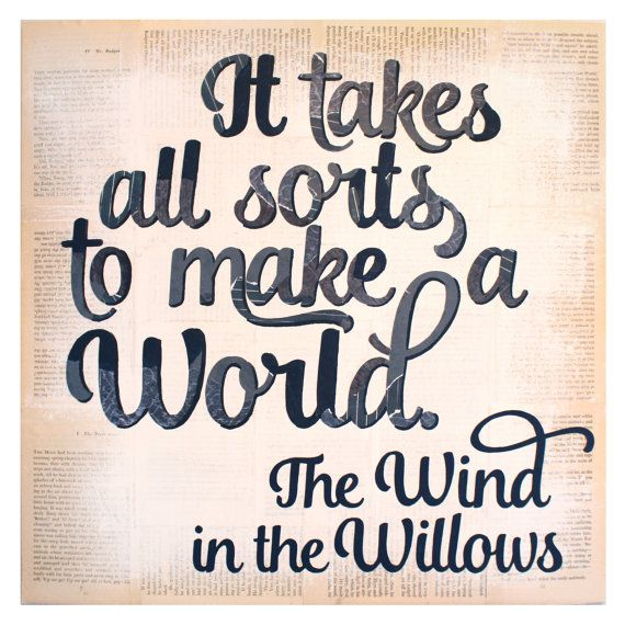 Wind in the Willows Quote - Collage Typography Art Print