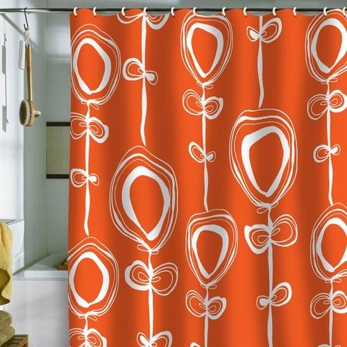 DENY Designs Rachael Taylor Contemporary Orange Shower Curtain | Wayfair