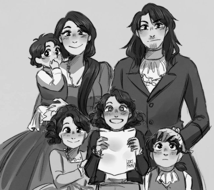 (Top Row, Left to Right) James, Eliza and Alexander (Bottom Row, Left to Right) Angelica, Phillip and Alexander Jr.