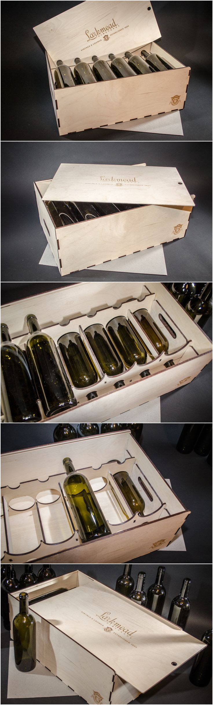 12 bottle Wooden Wine Gift Box, laser personalized, (without wine)