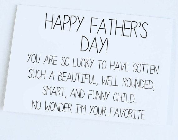 Happy Father's Day Funny Father's Day Card by OrangeCricket, $4.00...