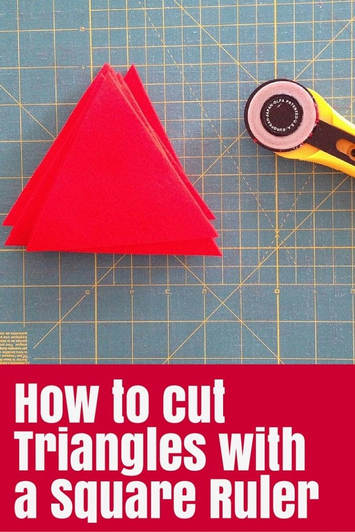 How to Cut Triangles with a Square Ruler - you don't need a triangle template to cut triangles if you have a square ruler like mine