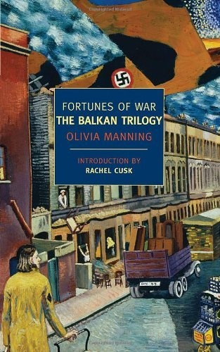 Fortunes of War: The Balkan Trilogy (New York Review Books Classics) by Olivia Manning, http://www.amazon.com/dp/1590173317/ref=cm_sw_r_pi_dp_3a7trb1P0VC15