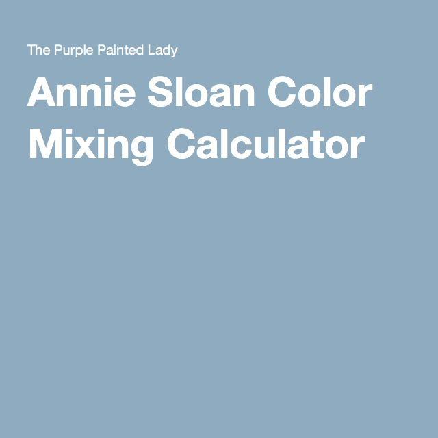 Annie Sloan Color Mixing Calculator