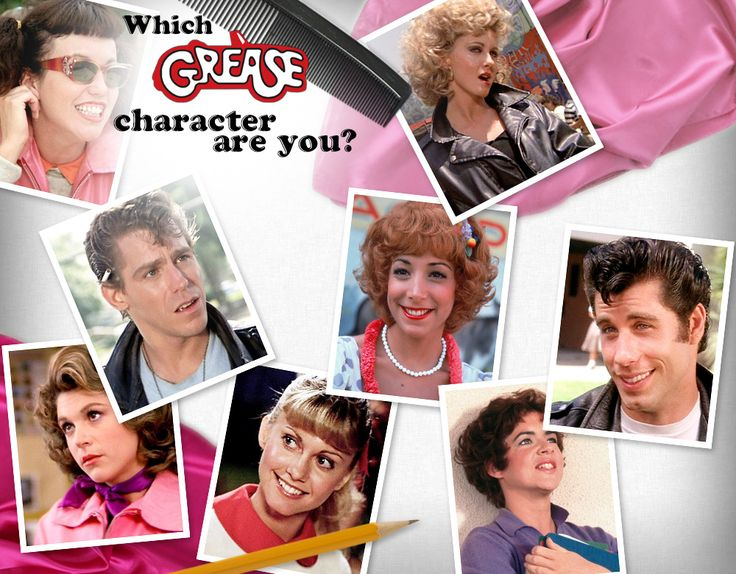 Which 'Grease' Character are You? - Quiz - Zimbio. I got Sandy... imagine that lol.