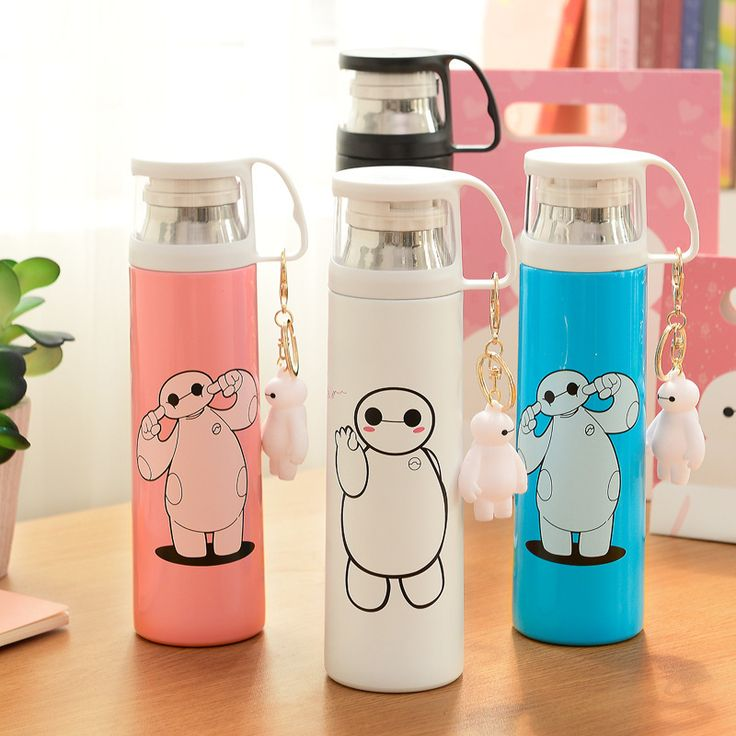 500ml Cartoon stainless steel vacuum insulation Cup portable vacuum flask creative couple cute children's Mug