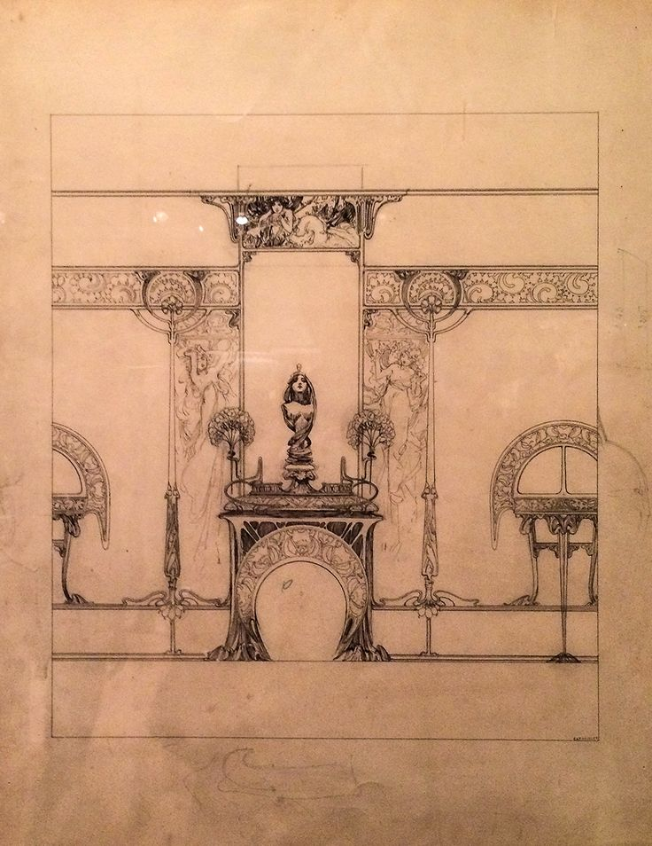 Fireplace Design fireplace drawing : 620 best A.Mucha-Drawings & Photos images on Pinterest