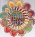 El ñandutí (en español: tela de araña) es un encaje de agujas que se teje sobre bastidores en círculos radiales, bordando motivos geométricos o zoomorfos, en hilo blanco o en vivos colores.  Es el símbolo de la ciudad de Itaugua, y es considerada como la reina de toda la artesanía de la República del Paraguay. Según la leyenda, el ñandutí fue creado por una mujer indígena, que se inspiró en el telar de araña de la selva.
