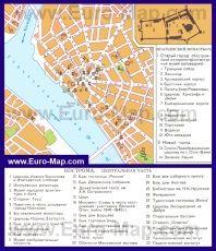 Карта Костромы с достопримечательностями
