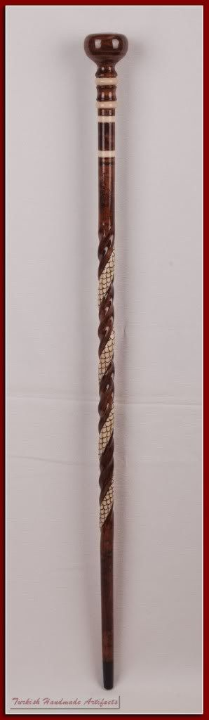 Handmade SNAKE Wooden Walking Stick Cane by TurkishWalkingStick, $65.00