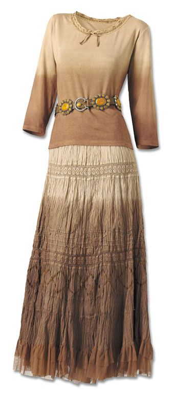 Mocha Latte Broom Skirt