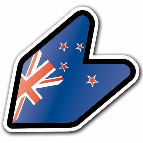 New Zealand - JDM Wakaba Leaf Flag Decal Sticker Car Macbook Shoshinsha Honda #CUSTOMI