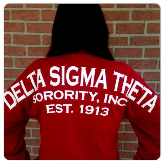 I had to get it!!!! Spirit Football Jersey  Delta Sigma Theta by CampusGreekTally, $45.00