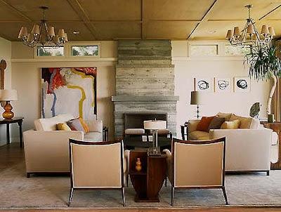 Madeline Stuart, as seen in Elle Decor. Etchings  Richard Serra's Venice Notebook Series. Painting Edward Dugmore.: Madelin Stuart, Concrete Fireplaces, Living Rooms, Stuart Interiors, Art Decoration, Fireplaces Wall, Designsmalibu Modern, Cement Tile, Modern Homes