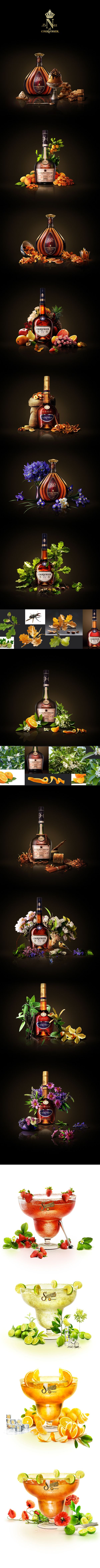 Collages for Sauza and Courvoisier on Behance