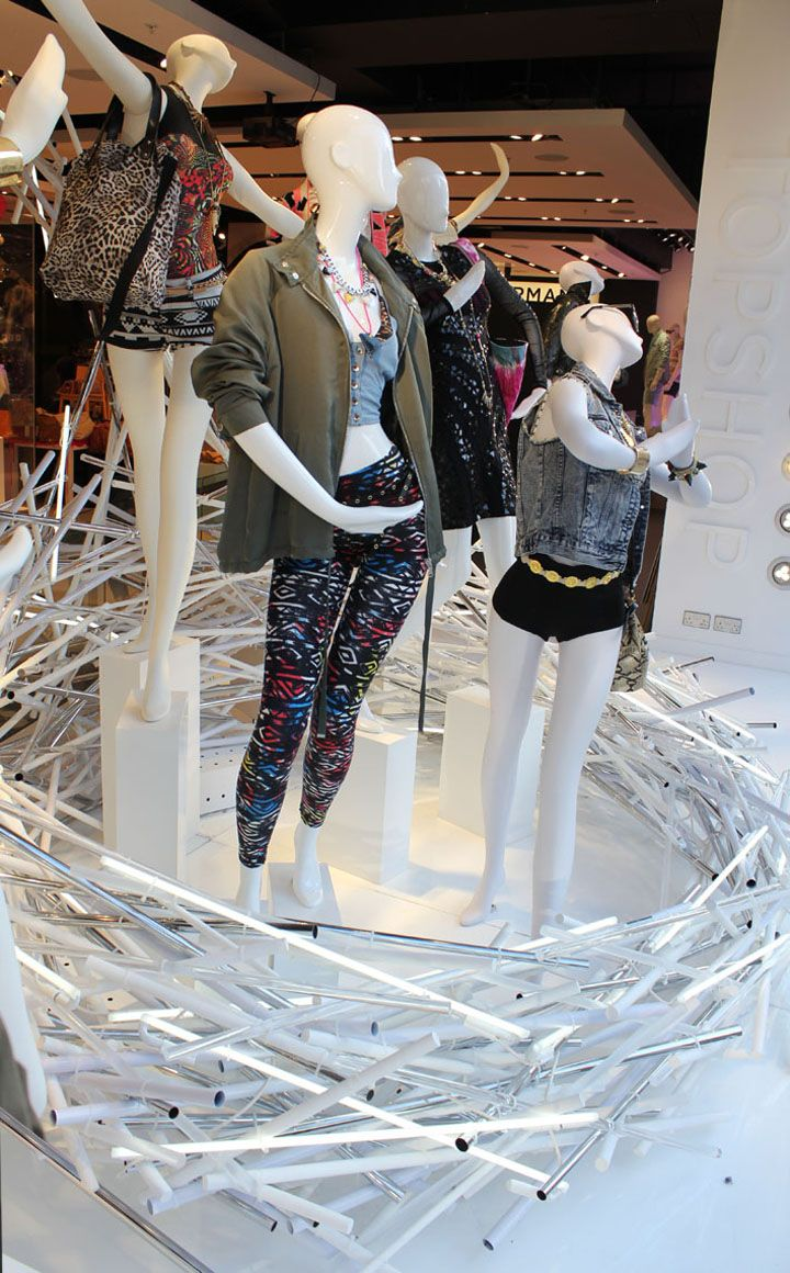 Topshop Oxford Circus window by StudioXAG    Tubes and lights