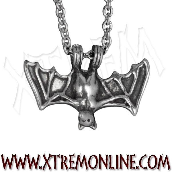 Colgante con cadena #murciélago XT3818. Colgantes #góticos, #biker, #paganos, #wicca y #vikingos en nuestra tienda online. Visitanos! #bats