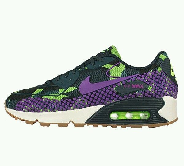 Women's Wmns Air Max 90 JCRD PRM SHOES ATHLETIC PURPLE GREEN New sz 7.5 #Nike #RunningCrossTraining