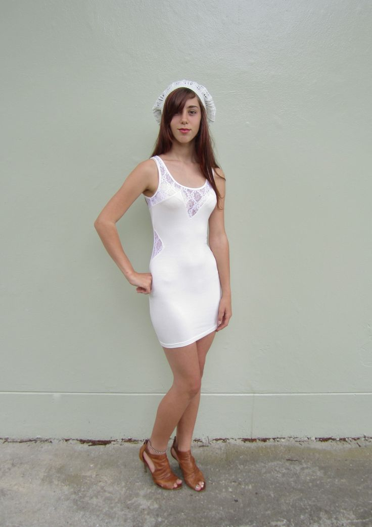 White Dress with Lace Size 06 $19.99