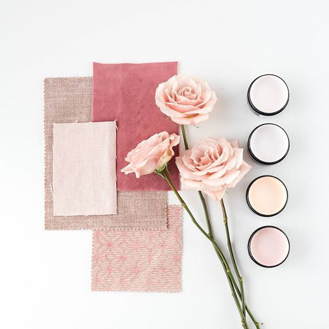 A moodboard so pretty it will make you blush. Soft pink tones from top, Resene Pot Pourri, Resene Ebb, Resene Romantic and Resene Paper Doll. Fabrics from @warwickfabric, styling @amberarmitage_ #Resenepink #Resenemoodboard #prettyinpink #colourinspiration #Resenelovescolour #colourmatching #flatlay