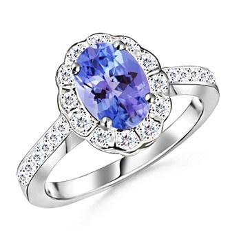 Angara Natural Tanzanite Cocktail Ring in Platinum PveEq9yhu