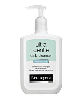 Ultra Gentle Daily Cleanser  , this effective yet gentle formula removes excess oil, dirt and even makeup while protecting skin's natural moisture barrier to leave it feeling soft—never too dry, never too tight. And unlike some other gentle or sensitive skin cleansers that can leave behind residue, Ultra Gentle rinses completely clean.