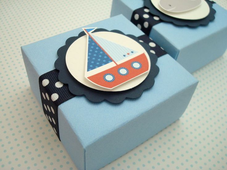 Nautical Themed Party Favor Boxes,