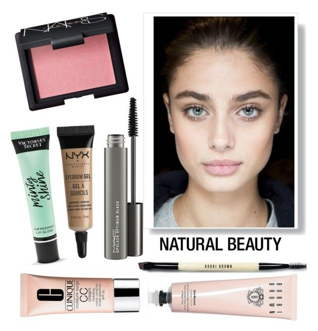 """""""Natural beauty"""" by junechristina ❤ liked on Polyvore featuring beauty, Bobbi Brown Cosmetics, MAC Cosmetics, NARS Cosmetics, NYX, Victoria's Secret and Clinique"""