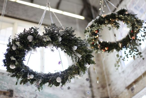 Holiday decor at the home office. http://blog.freepeople.com/2012/11/scenes-office-6/