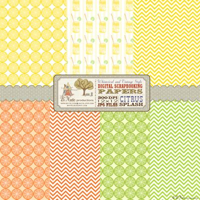 57 best citrus themed party images on pinterest theme for Themed printer paper