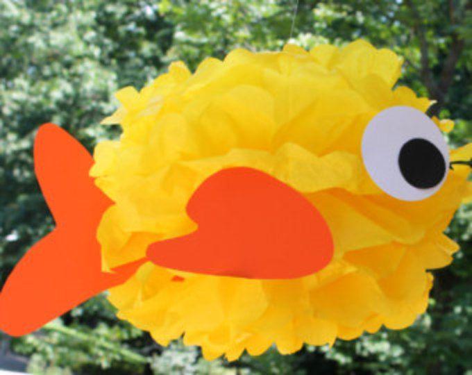 Kit di Goldfish carta velina pom pom sotto la decorazione di sirena di mare oceano acqua di pesce